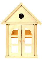 """Деревянная ключница настенная """"Домик с дверцами"""", настенная закрытая ключница, ключница в виде домика"""