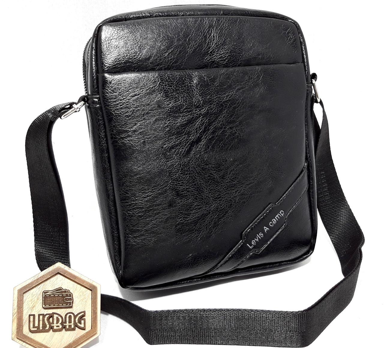 311c942fa041 Мужская сумка через плече Levis на молнии 2 отделение и магнит, Сумка  планшетка магнит,