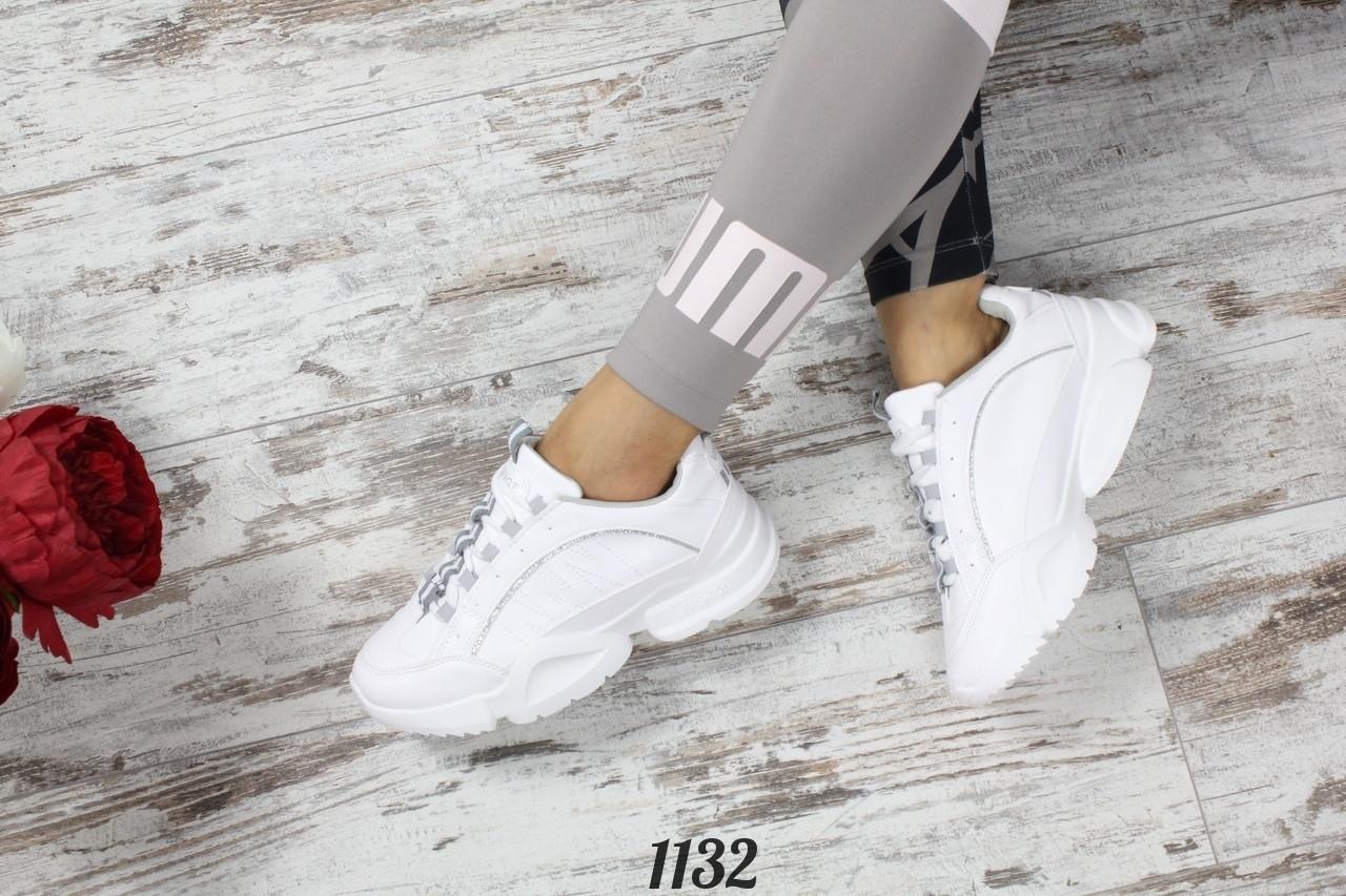 Кроссовки SOLO  белые с серым