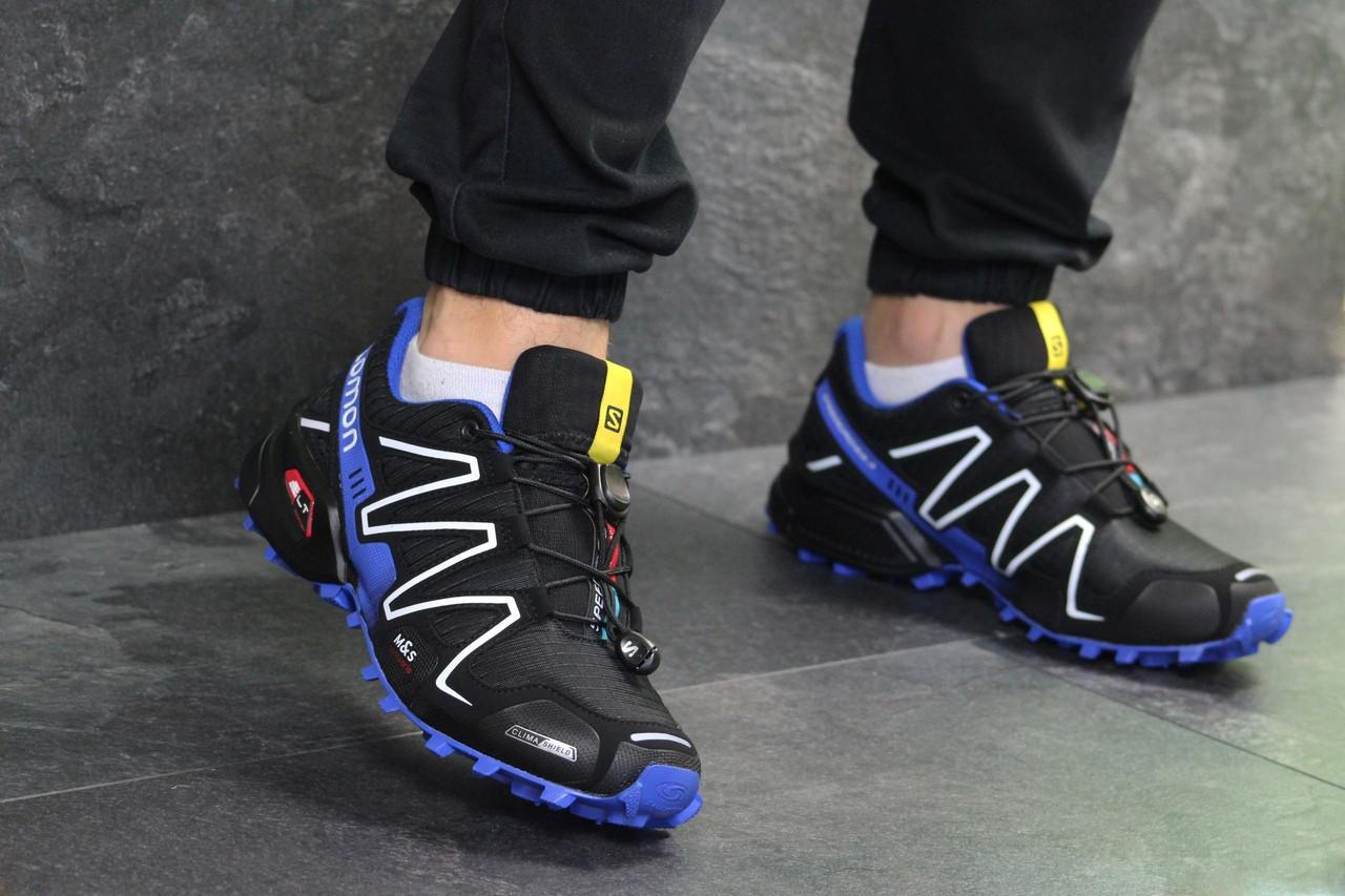 Мужские кроссовки Salomon Speedcross 3 (Черно-синие) весна-осень ... 449bd1095af22