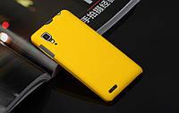 Чехол накладка бампер для Lenovo P780 желтый