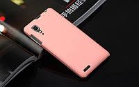 Чехол накладка бампер для Lenovo P780 розовый