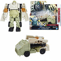Transformers The Last Knight 1-Step Turbo Changer Autobot Hound - C1314 - ТРАНСФОРМЕРЫ 5: Уан-степ Hound HASBR