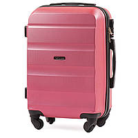 Микро пластиковый чемодан Wings AT01 на 4 колесах розовый, фото 1