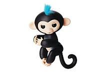 2722758331134 Ручная обезьянка на бат. Happy Monkey интерактивная (чёрный)