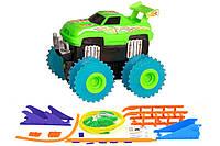 2722643732114 Машинка набат. Trix Trux набор с трассой (зеленый)