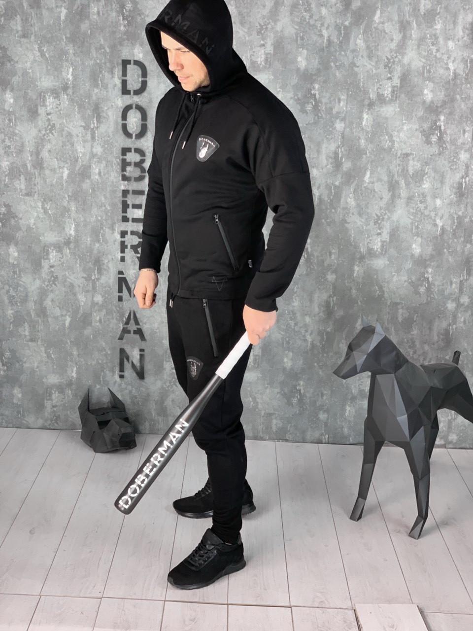 6b7c0cb4 Спортивный костюм Doberman D5644 черный зимний - Брендовая одежда от  интернет-магазина «Trendy Shop
