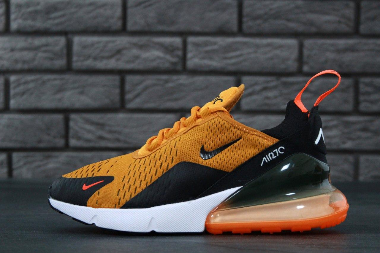da03a23b Мужские кроссовки Nike Air Max 270 Total Orange (в стиле Найк Аир Макс)  черно