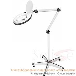 Лампа лупа на штативе 6014 пятилучевой 5А для косметолога, для наращивания ресниц