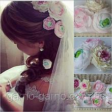 Свадебные украшения для невесты Пионы Ранункулюсы