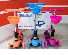 Детский трехколесный самокат ScooТer 3 in 1, самокат-беговел
