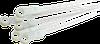 Хомут нейлоновый под винт, белый, с отверстием, 4x200, CNC