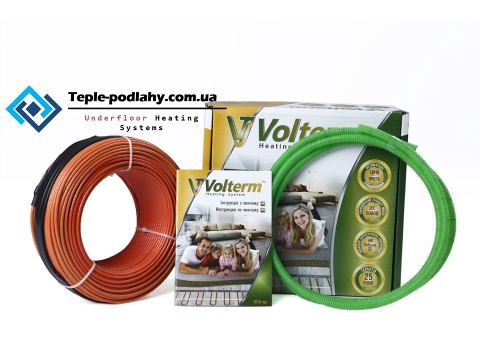 Двухжильный нагревательный кабель Volterm (обогрев 7,4 - 9,2 м².)