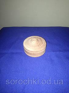 Шкатулка деревянная круглая, черешня, диаметр 7 см