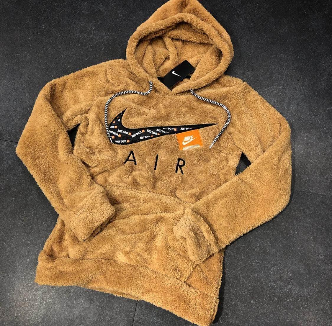0d6b1701 Кофта мужская Nike D5647 светло-коричневая с капюшоном - купить по ...