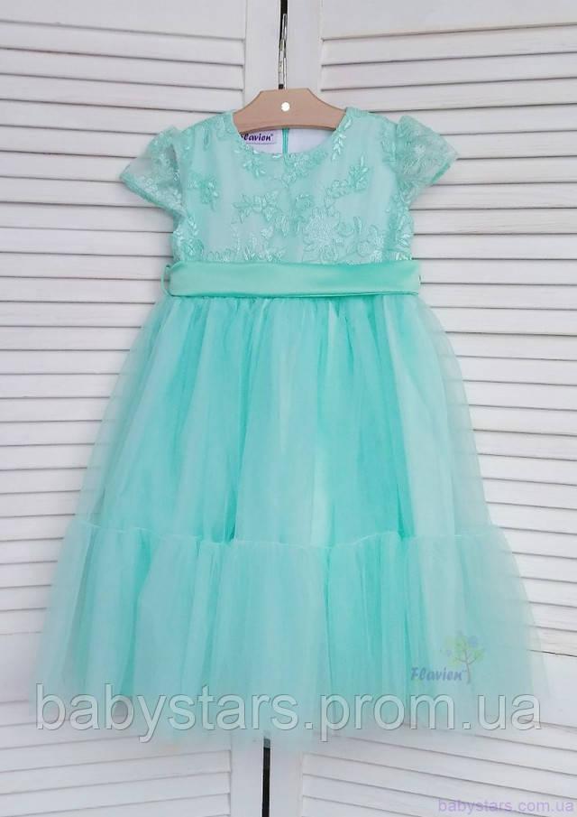 Платье-волан для девочек от 1 годика до 9 лет