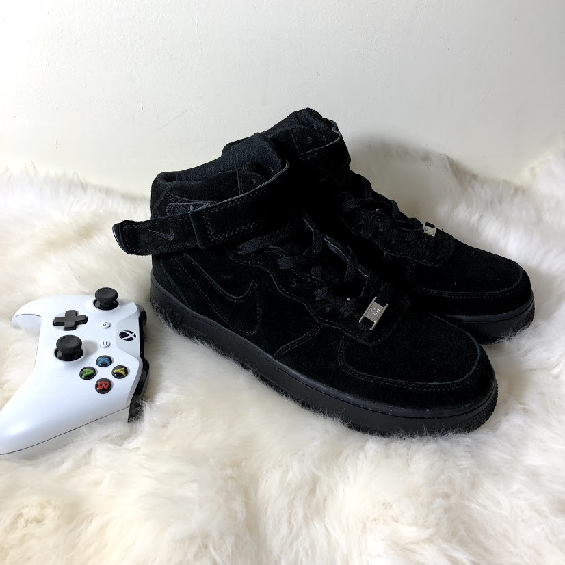 Suede Мужские; 1 Mid Черные; Force Air Замшевые BlackКроссовки Nike 07 vy8nPNOm0w