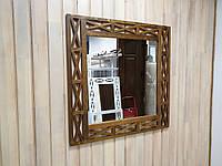 """Зеркало настенное ДРЕВОДЕЛЯ """"Версаль"""" 88х88х1,5см Орех (070603), фото 1"""