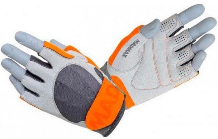 Перчатки Mad Max Workout Gloves MFG-850 M size grey/chili