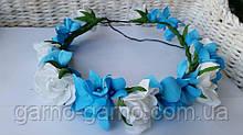 Свадебные украшения для невесты Розы гортензия Бело-голубая свадьба