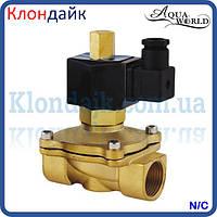 Электромагнитный клапан нормально закрытый DN15 (1/2) 220В AquaWorld