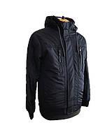 Куртка мужская весенняя (осенняя),мужская ветровка на резинке, с манжетами и капюшоном