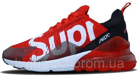 02804f4b Топ продаж Мужские кроссовки Nike Air Max 270 Supreme Red (найк аир макс 270  суприм, красные