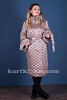 Женский пуховик  пальто большого размера с мехом  №1773, фото 1
