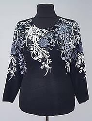 Красивая женская кофта с оригинальным рисунком и бисером