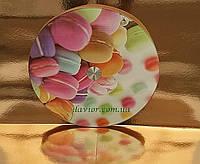 Подставка под торт стеклянная вращающаяся 32 cм