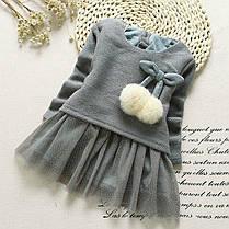 Платье нарядное детское  на девочку длинный рукав с бубончиками, фото 3