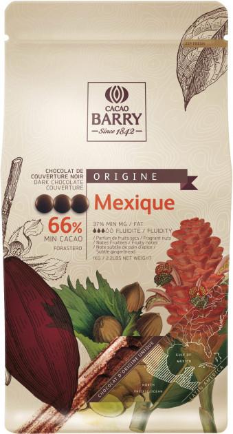 Черный шоколад Mexico 66% 100 г, Cacao Barry