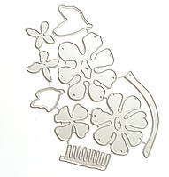 """Ножи для вырубки набор из 9 шт """"Пионы"""" для фоамирана, бумаги, фетра для скрапбукинга , фото 1"""