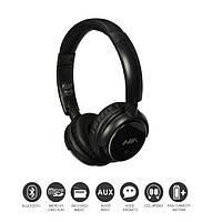 Беспроводные наушники Bluetooth NIA Q1 microSD FM Черные, фото 1