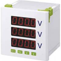 Вольтметр цифровой YC-7K3-3U, 72*72, 1,5, 3-х фазный, 600V, CNC