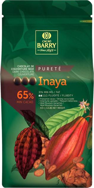 Черный шоколад INAYA 65% 100 г, Cacao Barry