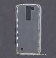 Силиконовый чехол Ultra-thin на LG K8 K350E Clean Grid Transparent