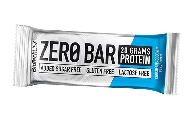 Протеїновий батончик BioTech Zero Bar 50g.(ШОКОЛАД КОКОС)