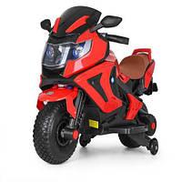 Детский электромотоцикл с надувными колесами 3681AL-3