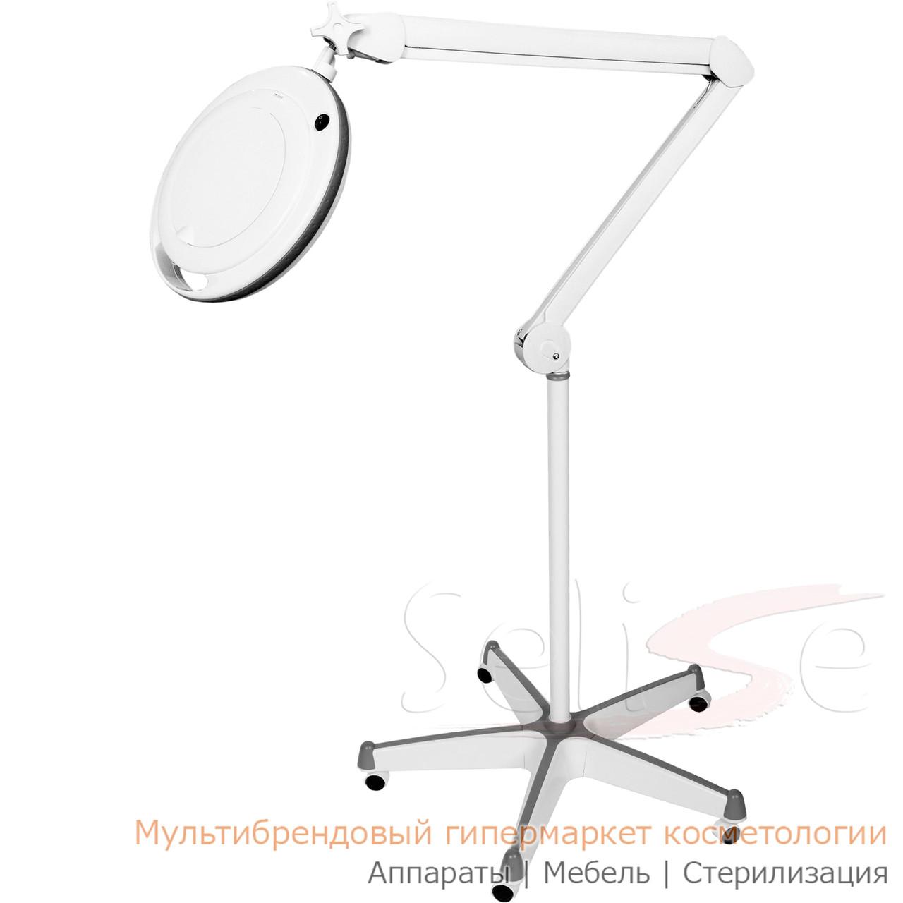 Лампа лупа на штативе 6017 пятилучевой 5А для косметолога, для наращивания ресниц