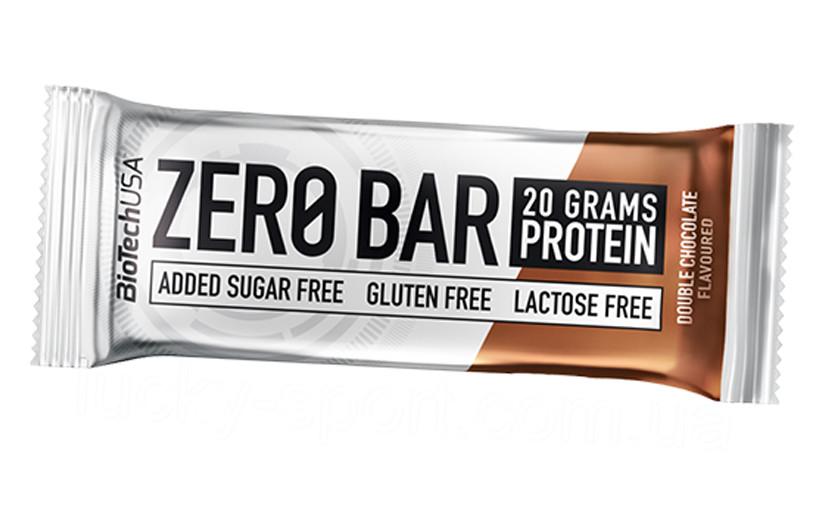 Протеїновий батончик BioTech Zero Bar 50g.(ШОКОЛАДНА КРИХТА)