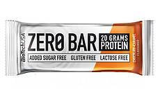 Протеиновый батончик BioTech Zero Bar 50g.(ШОКОЛАД КАРАМЕЛЬ)