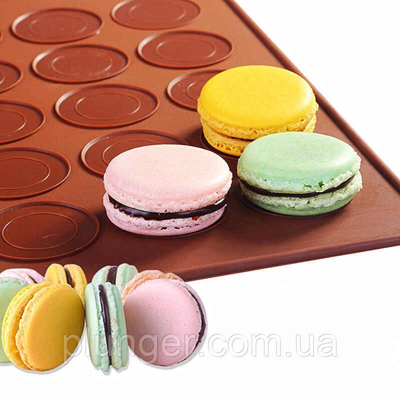 Коврик силиконовый для выпекания French Macarons,  40х30 см