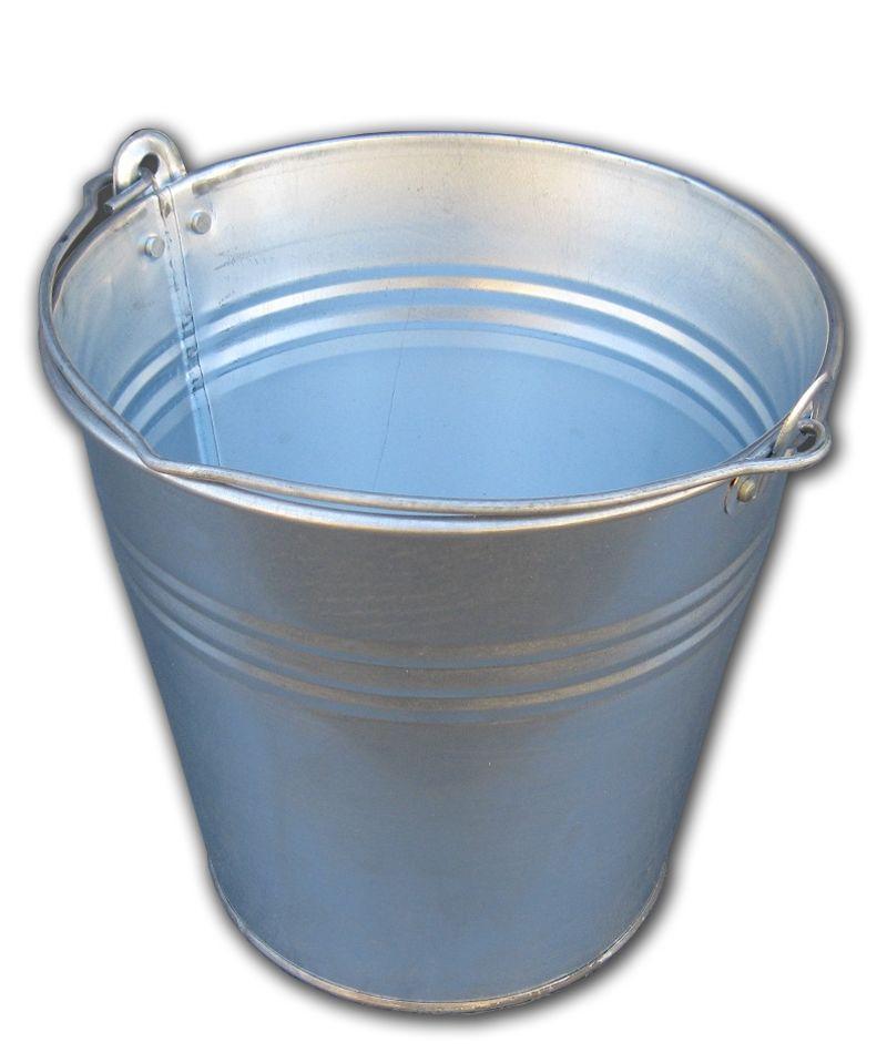 Ведро 7 литров оцинкованное одношовное (Метид, Днепр)