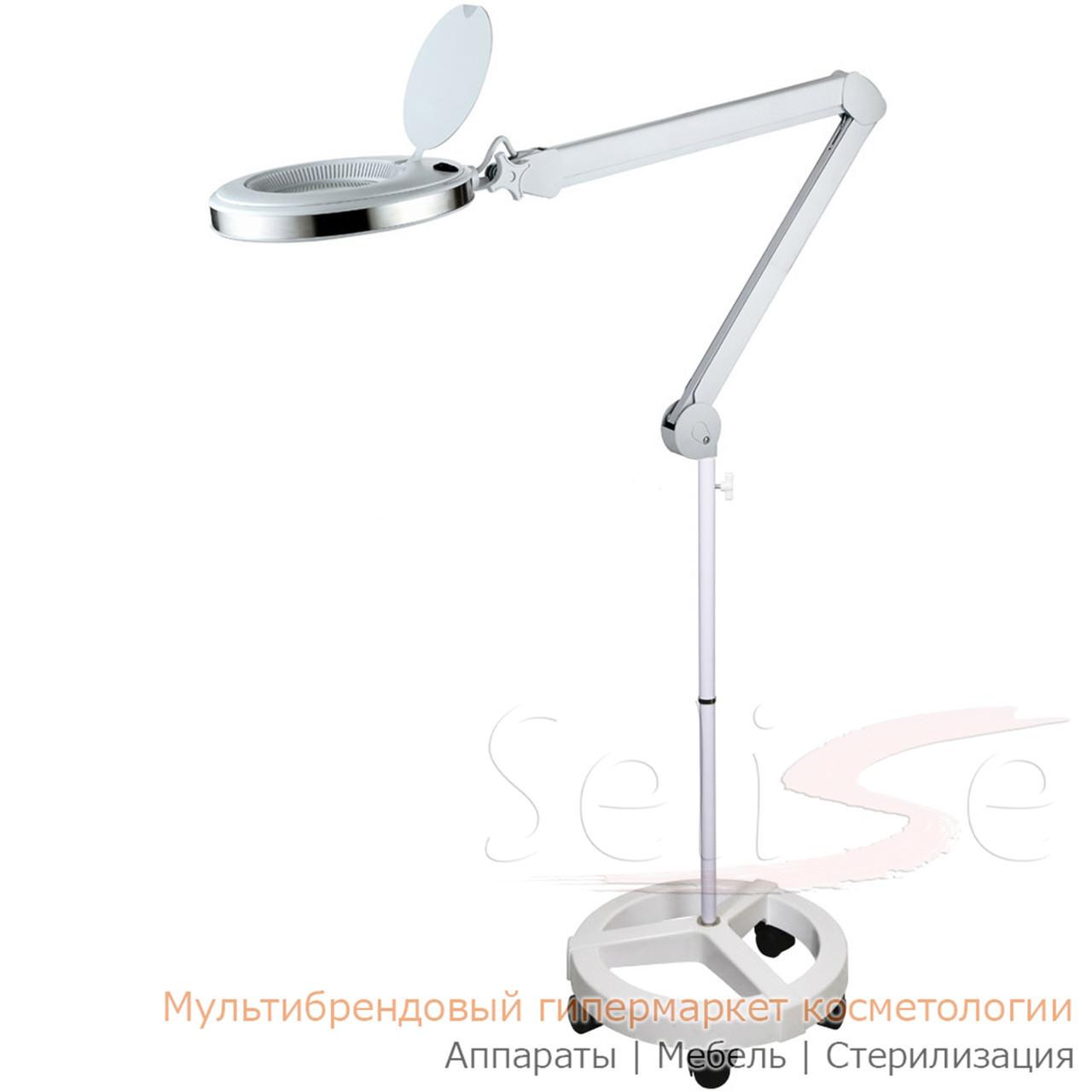 Лампа лупа на штативе 6023 круглый SMP-2 для косметолога, для наращивания ресниц