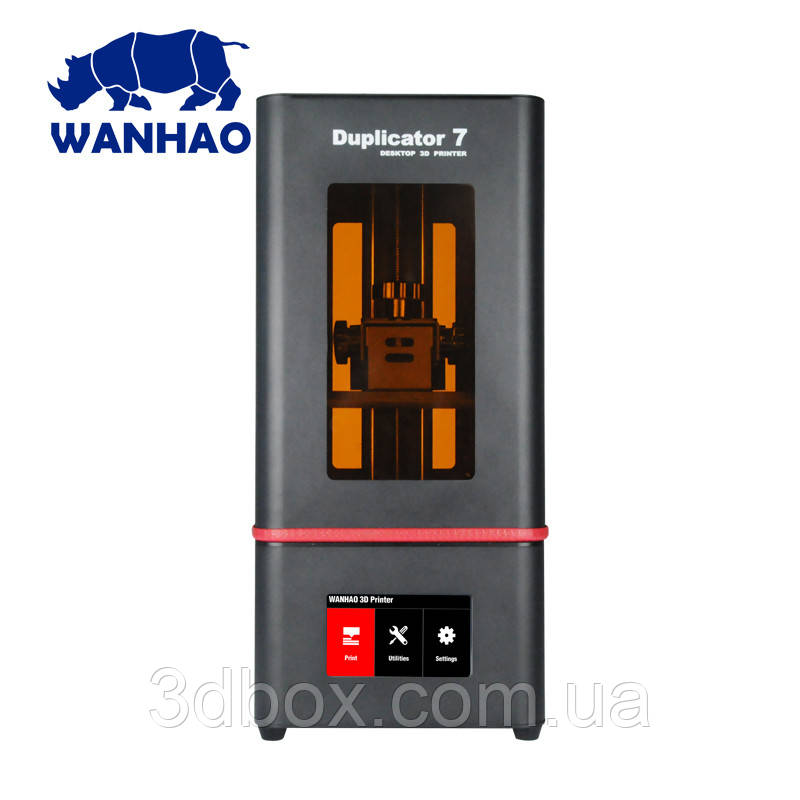 3D ПРИНТЕР WANHAO DUPLICATOR D7 PLUS V1.5 фотополимерный SLA LCD + ВСТРОЕННЫЙ ДИСПЛЕЙ и СТЕКЛО ДЛЯ РЕВИЗИИ