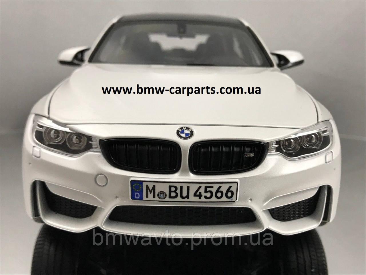 Модель автомобиля BMW M3 Competition (F80), Scale 1:18, Mineral White Metallic