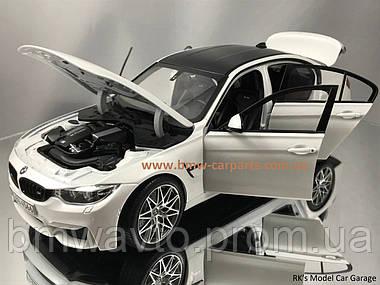 Модель автомобиля BMW M3 Competition (F80), Scale 1:18, Mineral White Metallic, фото 2