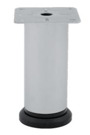 Ножка/Опора регулируемая  Kapsan D42mm H100mm Матовый Хром