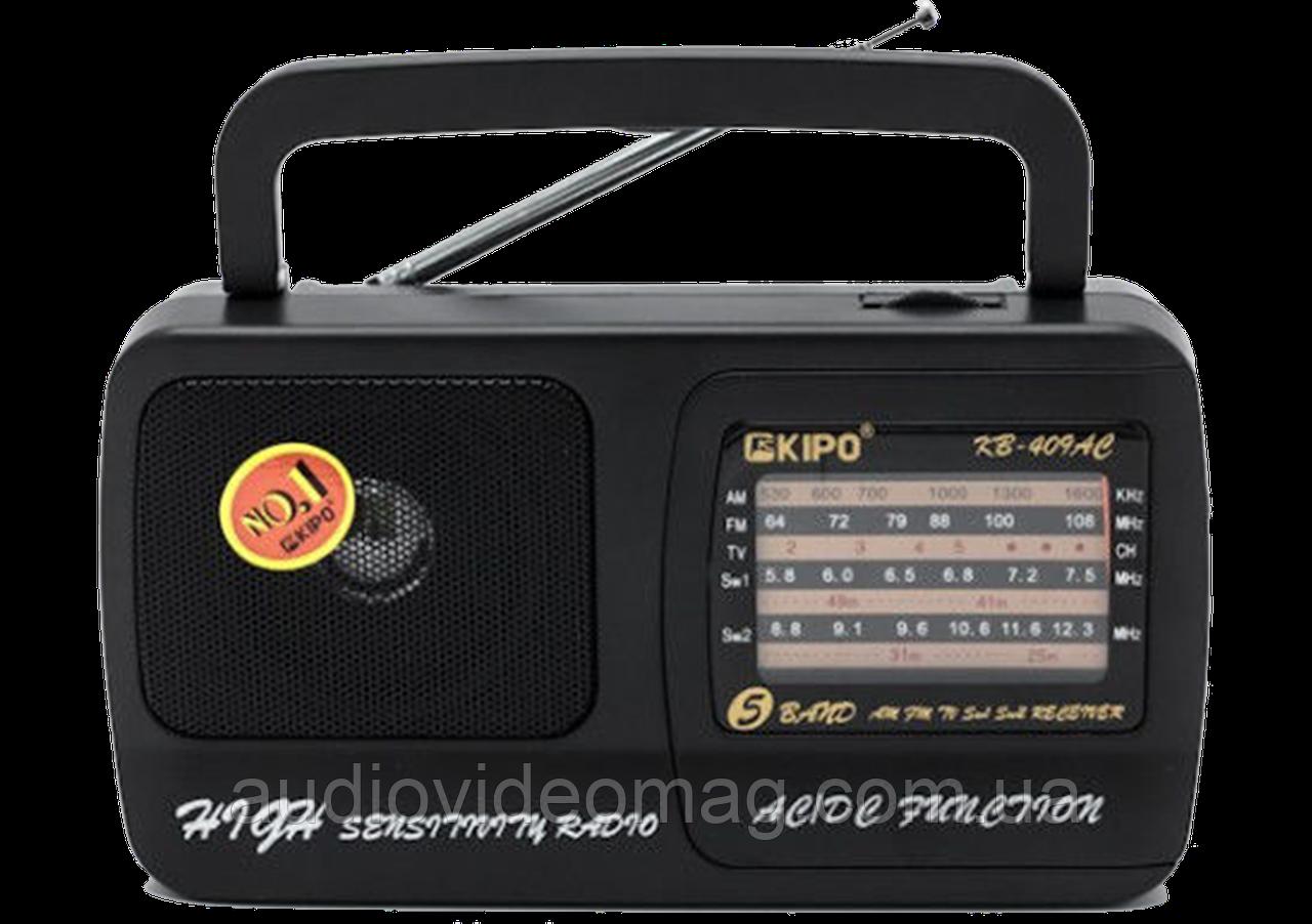 Радіоприймач всехвильовий KP-409AC FM(УКХ), TV, AM, SW1, SW2.